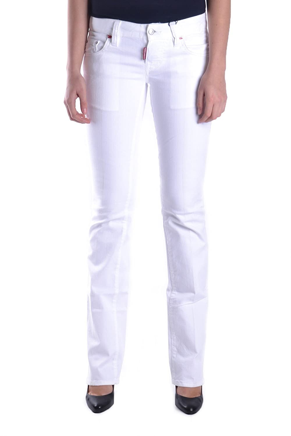 DSQUARED2 WOMEN'S MCBI107158O WHITE COTTON JEANS