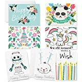 PAPER_PRODUCT  Amazon, модель Happy Birthday Cards - 42 Blank Cards - White Envelopes Included - Cute Birthday Card Box Set for Kids, Adults, and Animals, артикул B076QGDKLP