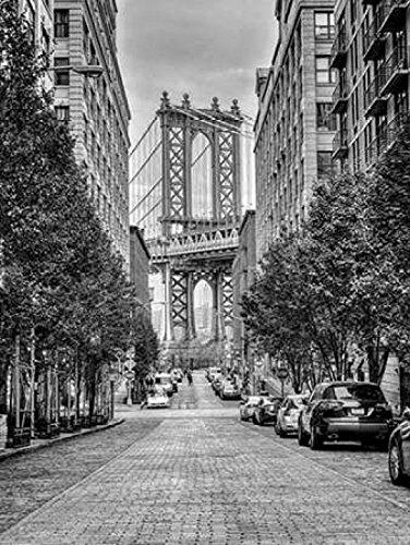 Manhattan Bridge seen from the Dumbo neighborhood in Brooklyn New York Poster Print by Assaf Frank (9 x 12)