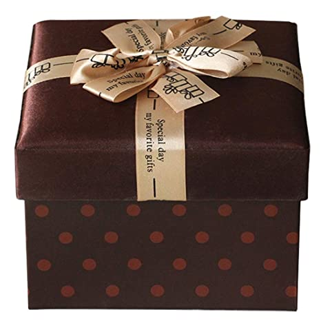 Amazon.com: Square Paper Gift Box Business Style Holiday ...