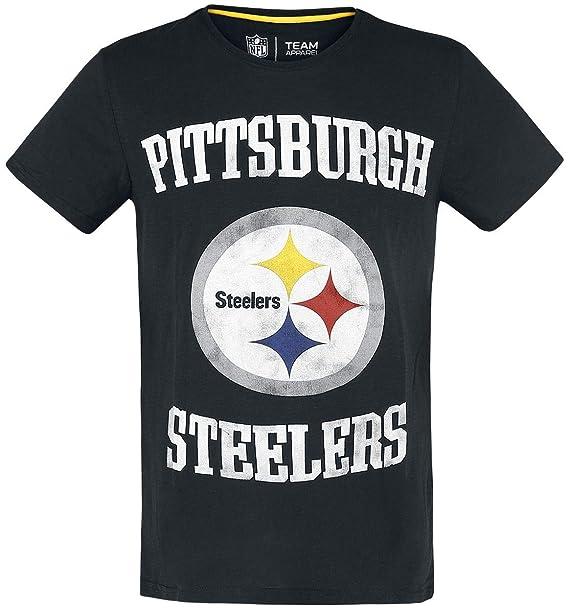 c68fd980a5 NFL Pittsburgh Steelers Camiseta Negro  Amazon.es  Ropa y accesorios