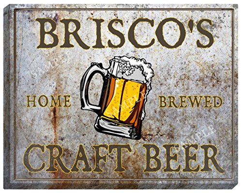 briscos-craft-beer-stretched-canvas-sign-16-x-20