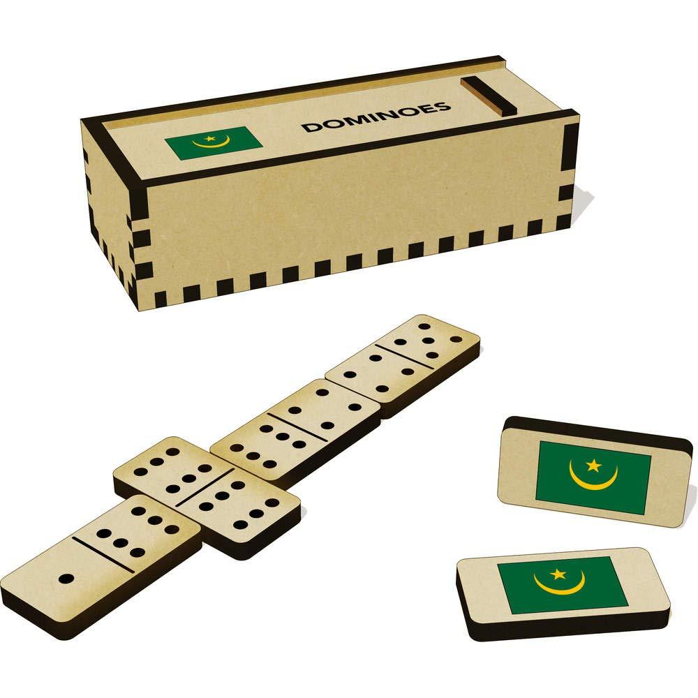 DM00020607 Cucina Azeeda Bandiera della Mauritania Gioco Domino e Scatola