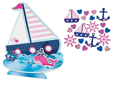 Amazon Com Nautical Table Decorations Centerpiece And Confetti