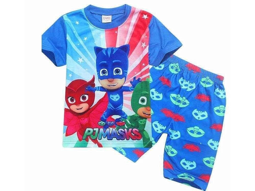 Pj Mask - Pijama Dos Piezas - para niño Azul Azul 2-3 Años ...