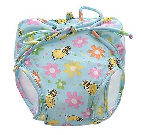 [abeja] pañales de baño para bebé reutilizables Traje de baño infantil para nadar precioso