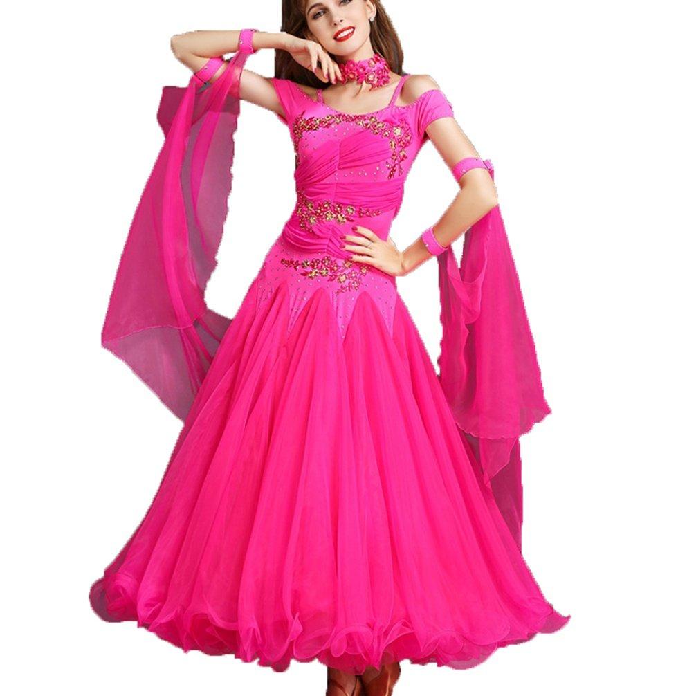 Rose S Danse du ventre costume de perforhommece tenue de feuilles de Lotus hommeches pour les femmes avec le côté Split satin long Swing Set jupe