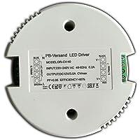 Transformador LED, 12V, DC 1–40W (redondo). Fuente