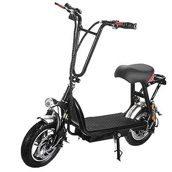 LIUJIE Scooter eléctrico con Poste Plegable, Scooter ...
