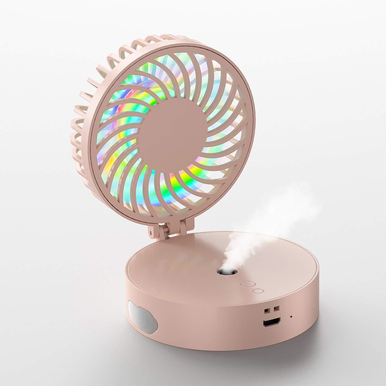 AMTSKR Ventilador portátil plegable con pulverizador USB ...