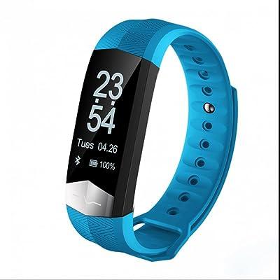 Bracelet Connecté,Tracker d'activité Intelligente avec Compteur de Calories, Calculateur de Distance, Moniteur de Sommeil Smart Bracelet connecté Avec Ecran Tactile Magnétique Recharge pour Android