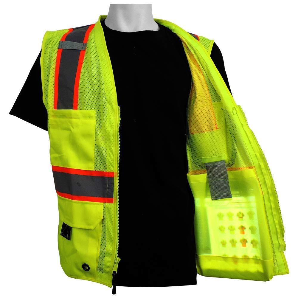 Small High-Visibility Mesh Polyester Surveyors Safety Vest Global Glove GLO-079 FrogWear HV