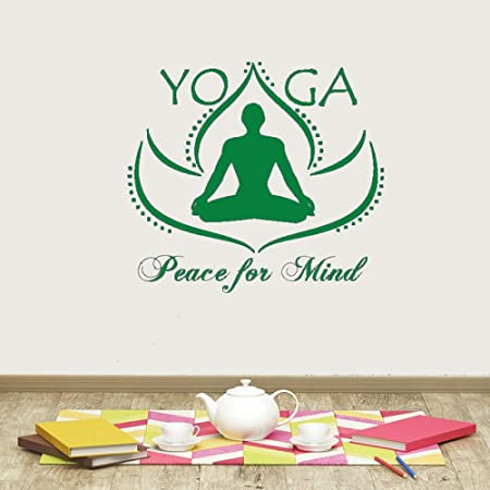 guijiumai Pegatinas de Pared de Vinilo Yoga Paz para la ...