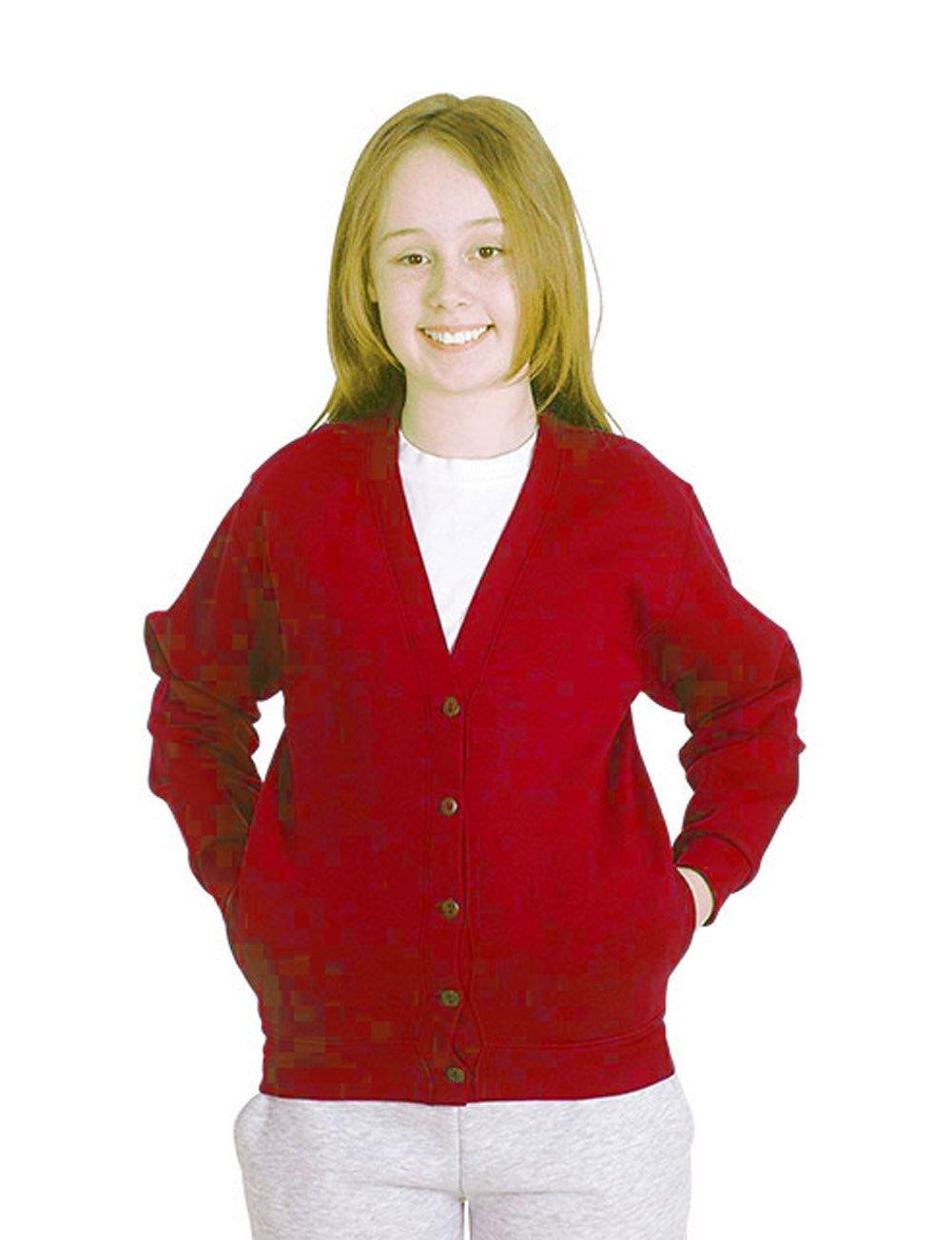 Girls Cardigan School Uniform Kids Premium Sweater Sweatshirt Age 2 to 13