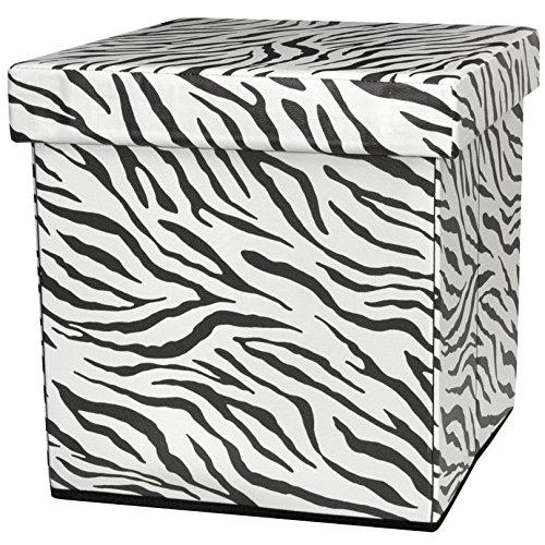 ORIENTAL Furniture Zebra Stripe Storage Ottoman (Ottoman Zebra)