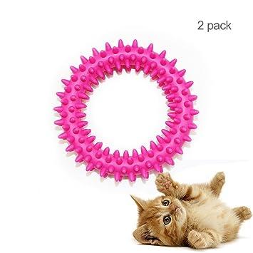 Juguetes de goma para mascotas TPR, anillo de espesor para mascotas, juguetes Molars, anillo de goma ...