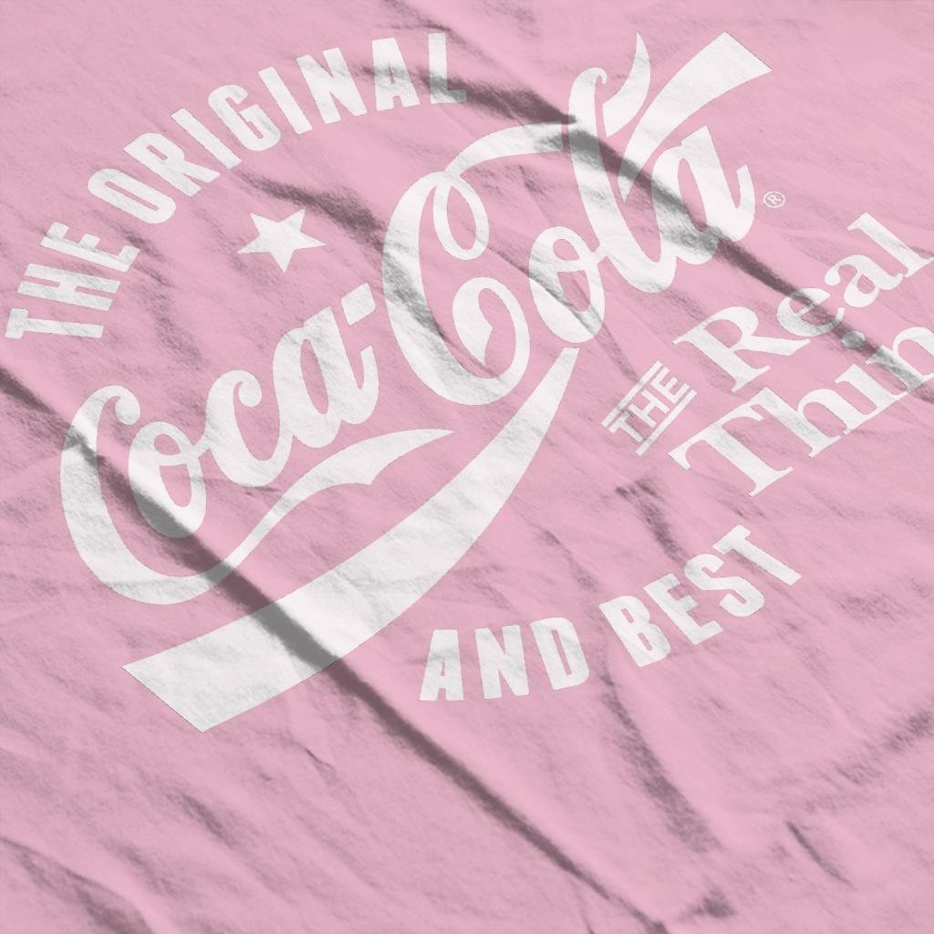 Coca Cola Original And Best White Text Womens T-Shirt