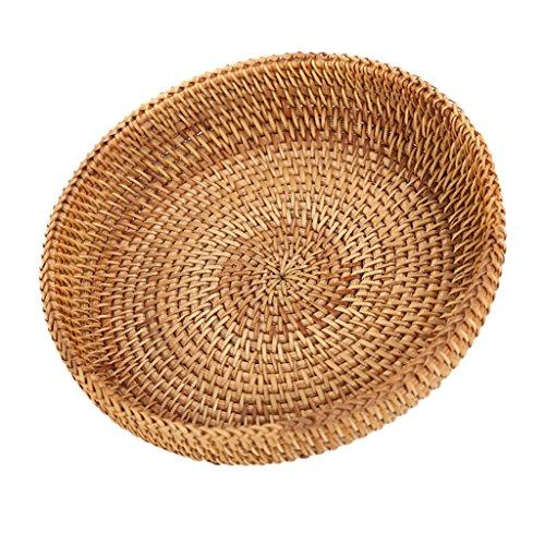 Fenteer Rattan & Wicker Basket Tabletop Serving/Diplay/Storage/Basket,Restaurant ()