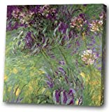 Little Purple flower of Giclee Print Canvas Art with Oil Brush