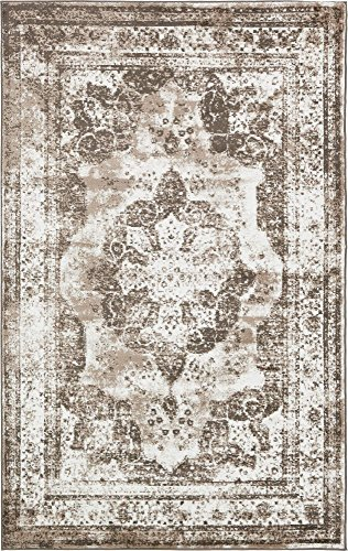 Unique Loom 3134098 Area Rug, 5' x 8' Rectangle, Light Brown (Brown Rug Area)
