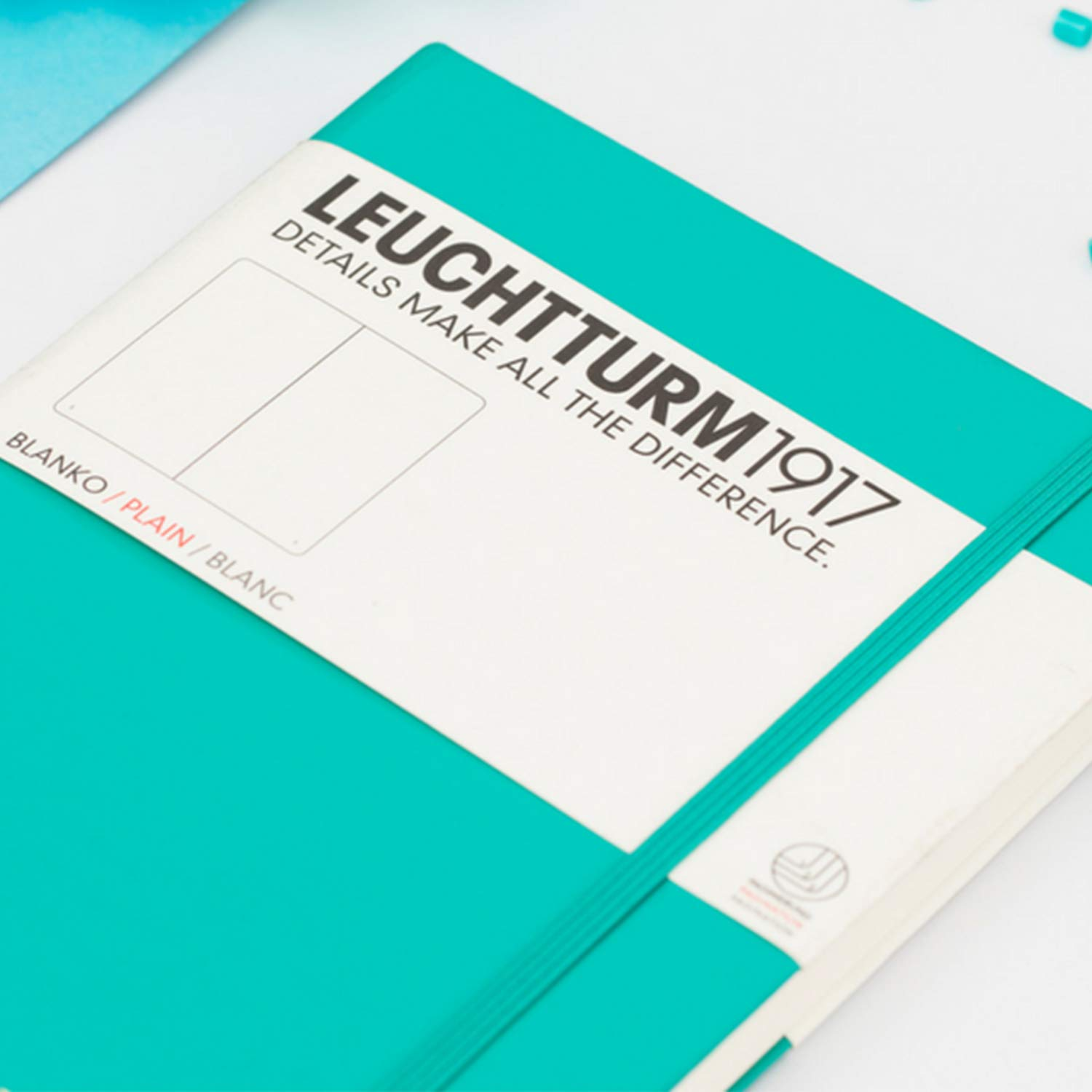 Leuchtturm1917 Medium A5 Plain Hardcover Notebook (Emerald) - 249 Numbered Pages