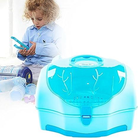 Per Escurre para Biberones de Bebés Cajas de Almacenaje con secador para Vajillas Infatiles Escurridor con Tapas Portátiles: Amazon.es: Bebé