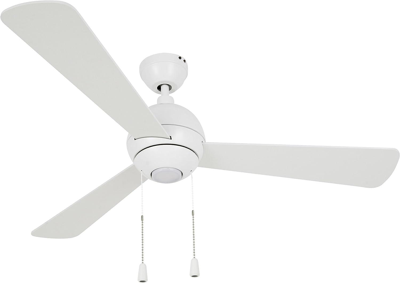 Lucci air 210387 Ventilateur de plafond, Métal, 66 W, Blanc, diametre 122cm