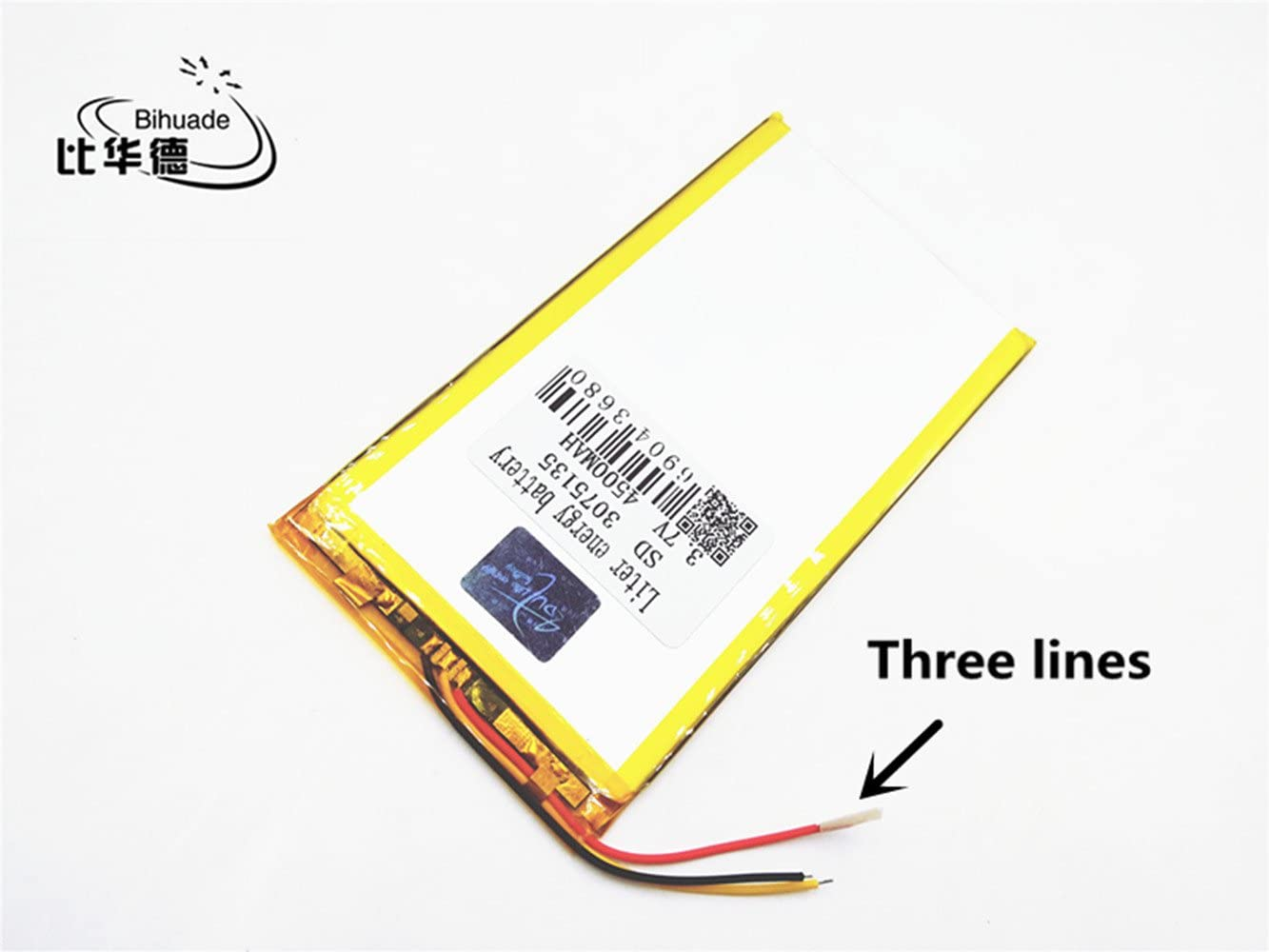 BIHUADE 3 line 3.7V 6000MAH 3280150 Lithium Polymer Li-Po Rechargeable Battery for DIY Mp3 MP4 MP5 GPS