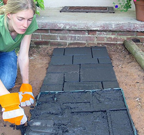Diy pavement mold patio concrete stepping stone brick for Garden maker online