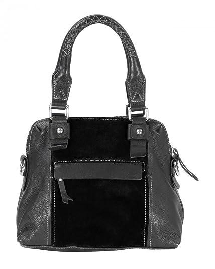 Handtasche, Echt Leder, Edel in Qualität u. Verarbeitung - 23 x 30 x 15 cm Nowi