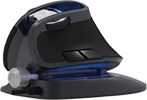 J-Tech Digital Wired Ergonomic Mouse with an Adjustable Angle Tilt, Vertical Mouse with Chroma RGB Color LED, Vertical Gaming Mouse with 4 DPI Settings (800/1200/2000/4000) Scroll Endurance [V628X]