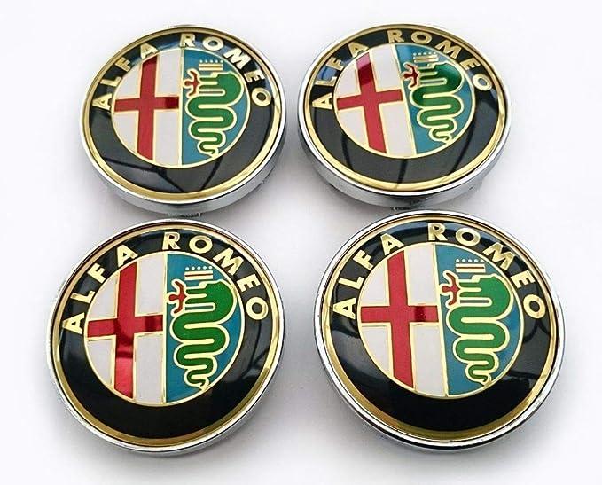 4 Nabenkappen Für Alfa Romeo Giulietta 159 146 156 Brera Emblem Fresi Felgen 60 Mm Gold Gold Beleuchtung