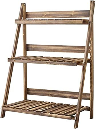 Shoppinglyw - Escalera de bambú de Madera Maciza Multicapa para Plantas de la Flor de la crimpadora, Soporte de Suelo multifunción Plegable: Amazon.es: Hogar