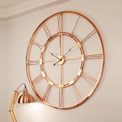 Inhouse 150 Cm Copper Color Handmade Extra Large Wall Clock