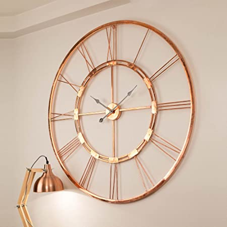 Inhouse 150 cm Copper Color Handmade Extra Large Wall Clock ...