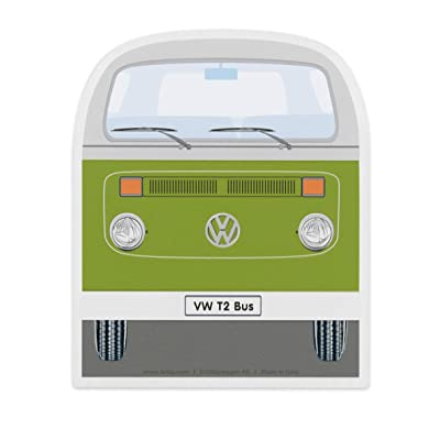 BRISA VW Collection - Volkswagen Samba Bus T2 Camper Van Ice Scraper, Windscreen Scraper, Ice and Snow Remover, Winter Car Accessories (Front/Green): Automotive