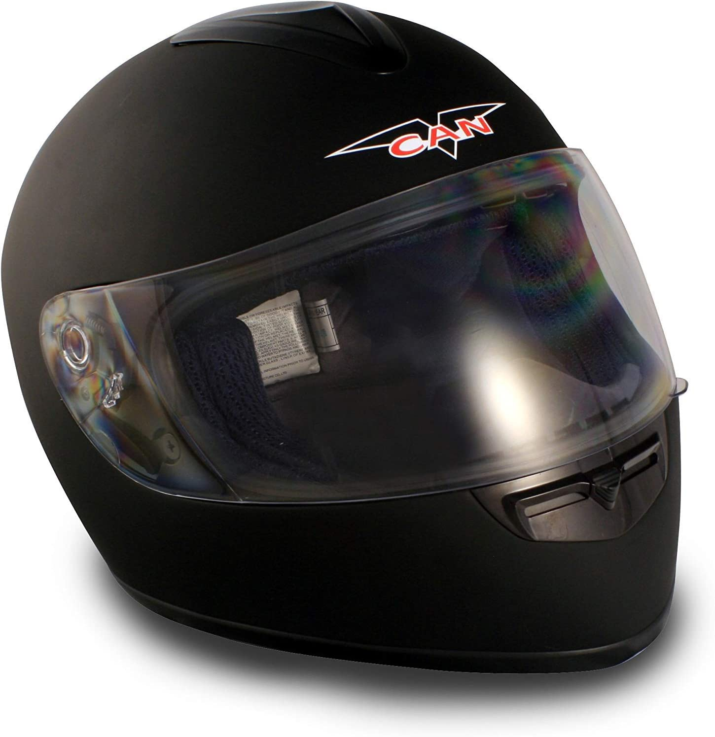 VCAN V136 Full-Face Helmet Black, X-Large