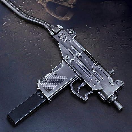 Amazon.com: Microuzi - Llavero de calibre 1/6 con diseño de ...