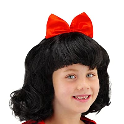 Folat 26800 - Peluca de Blancanieves para niños, color negro/rojo: Juguetes y juegos