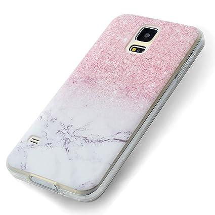 Funda Samsung Galaxy S5, Carcasa Samsung S5 Teléfono Caso Cubrir Transparente, Ultrafina Rigida Anti-rasguñe Anti Choques Anti-Arañazos Funda, Patrón ...