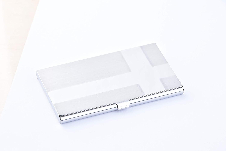 Amazon.com: Tarjetero personalizado de acero inoxidable para ...