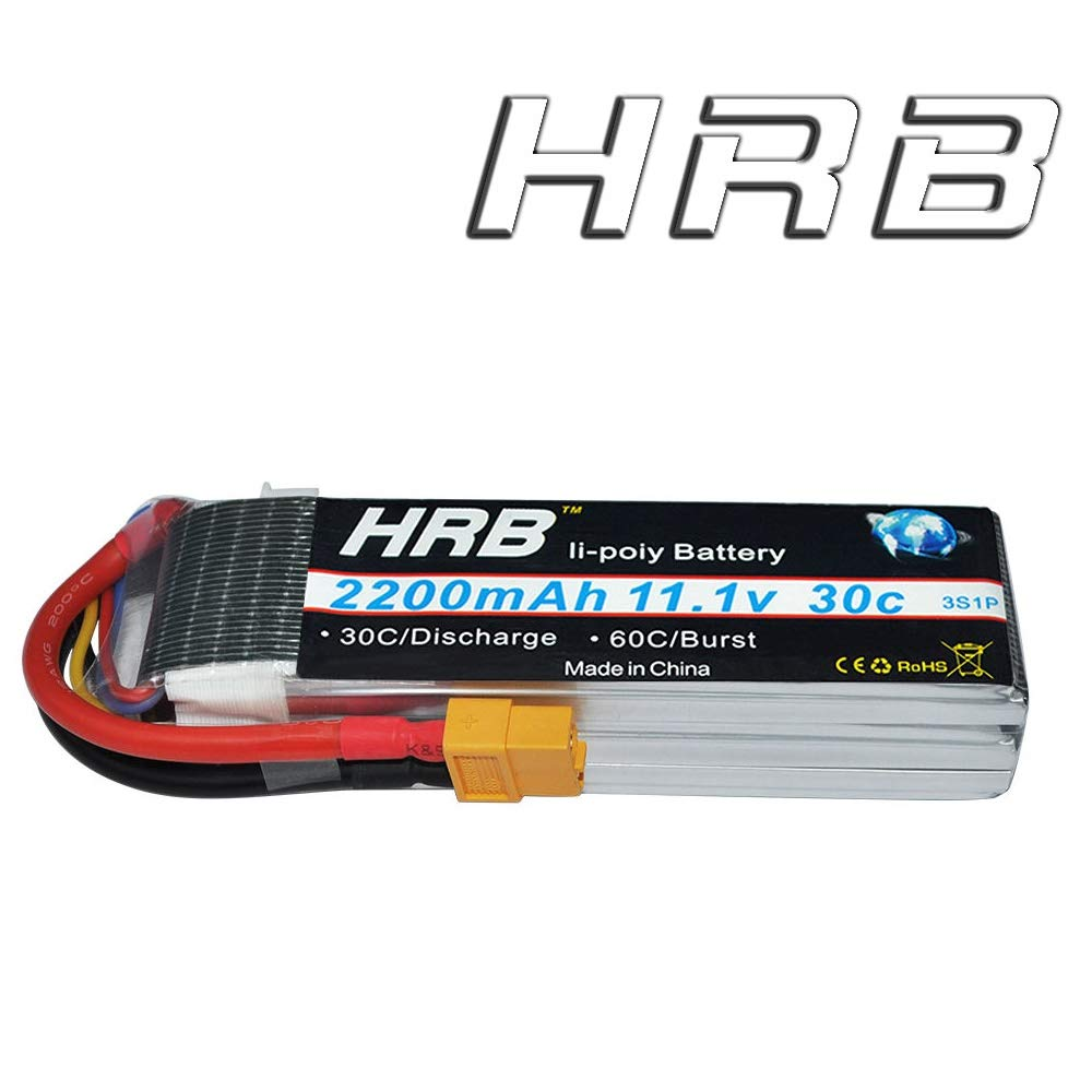 Hrb 3s Lipo Battery 111v 2200mah 30c With Xt60 Plug Rc Car Plane Lippo Tplug Fixed Wing