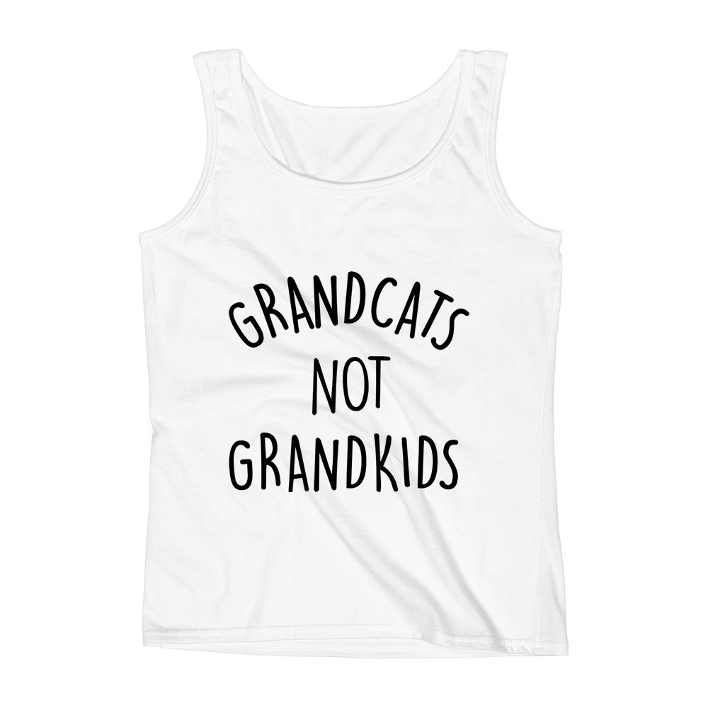 Mad Over Shirts Grandcats Not Grandkids Dogs Cats Animal Unisex Premium Tank Top