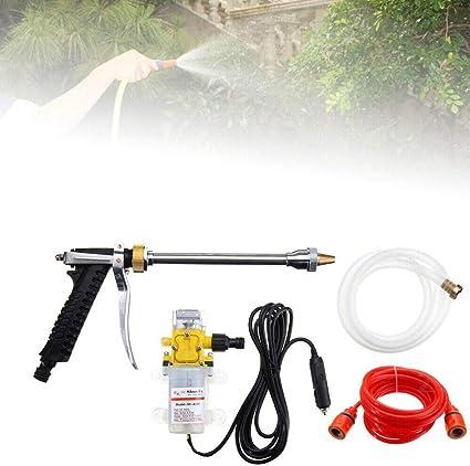 12V 100W Portable Mini High Pressure Car Sprayer Washer Cleaner Water Pump Kit