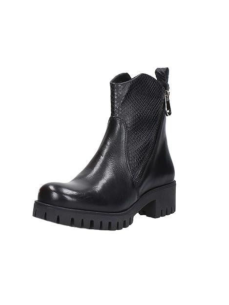 doppia t moro FC116 zip NOIR tronchetto donna stivale CAFè scarpe 8wSUUq