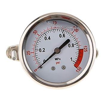 Homyl Manómetro Hidráulico Compresor de Aire Aceite Agua Accesorios Interno Tamaño Mini - 1mpa: Amazon.es: Coche y moto