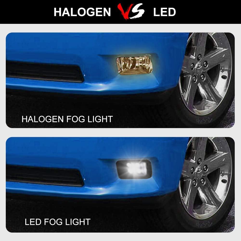 Dodge Ram Truck LED Fog Light Assembly with Daytime Running Lights 2pcs for 09-12 Dodge Ram 1500//10-14 Dodge Ram 2500//10-12 Dodge Ram 3500 Bumper Driving Fog lamps