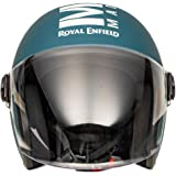 Royal Enfield Matt Blue Open Face with Visor Helmet Size (M)57 CM (RRGHEL000049)