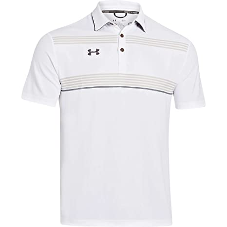 Under Armour Conquest On-Field Polo - White/Graphite Large: Amazon ...