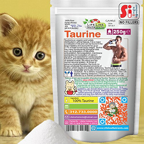 250g (8.8oz), 100% Pure Taurine Powder - Free Shipping